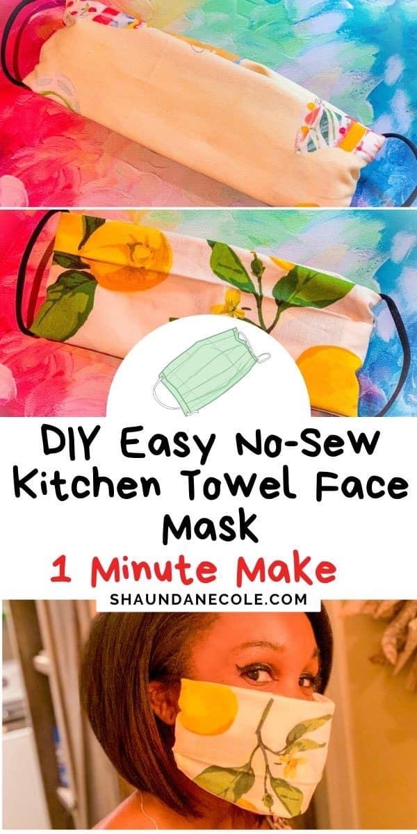 DIY Kitchen Towel Face Mask