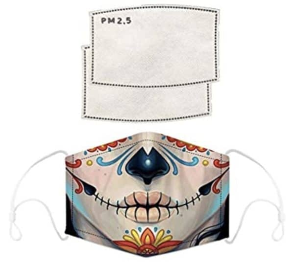 Selfie Sugar Skull Face Mask