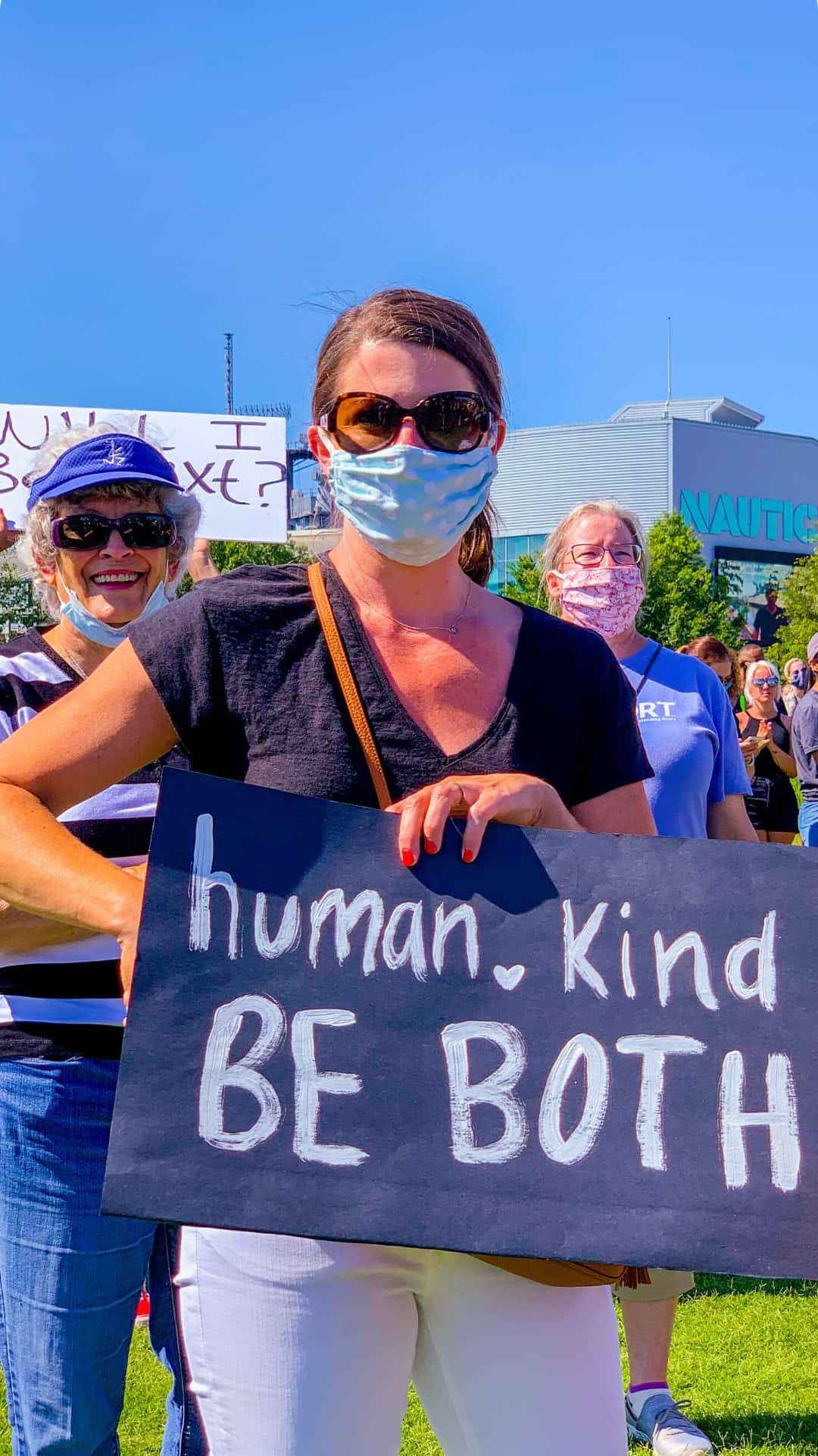 BLM Protest Signs Ideas- human, kind, be both protest sign