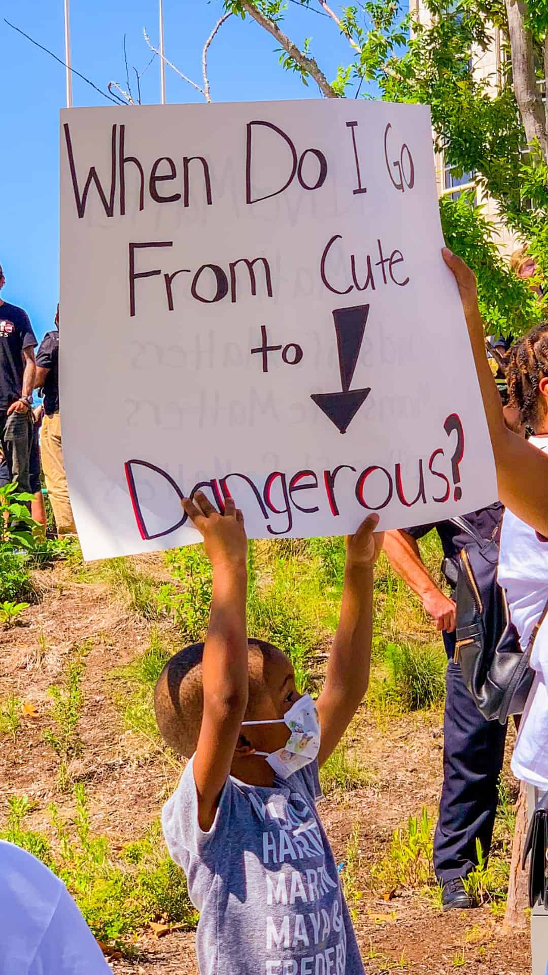 BLM Protest Signs Ideas- When did I go from cute to dangerous? protest sign