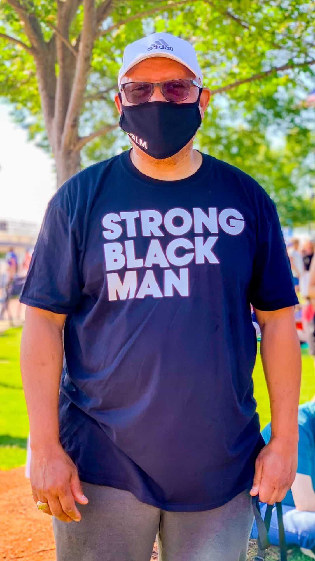 BLM Protest Signs Ideas- Strong Black Man protest sign