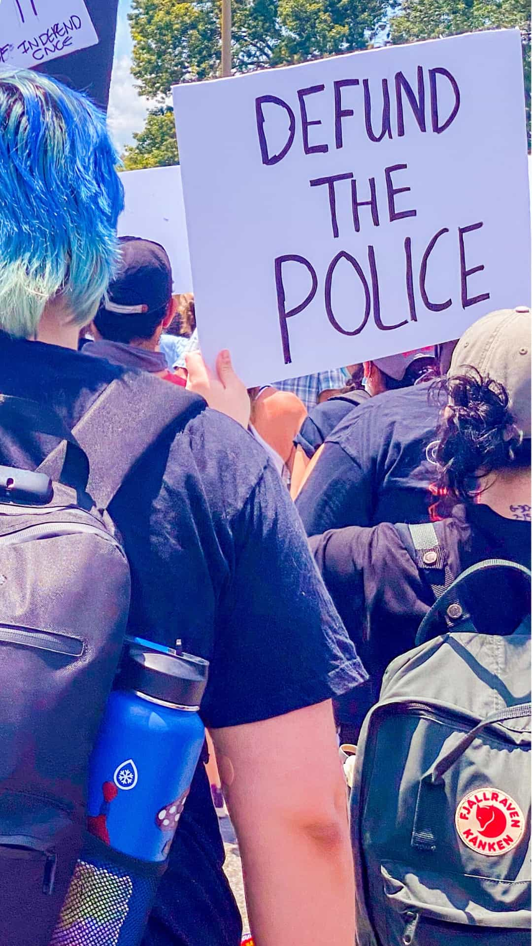 BLM Protest Signs Ideas- defund the police protest sign