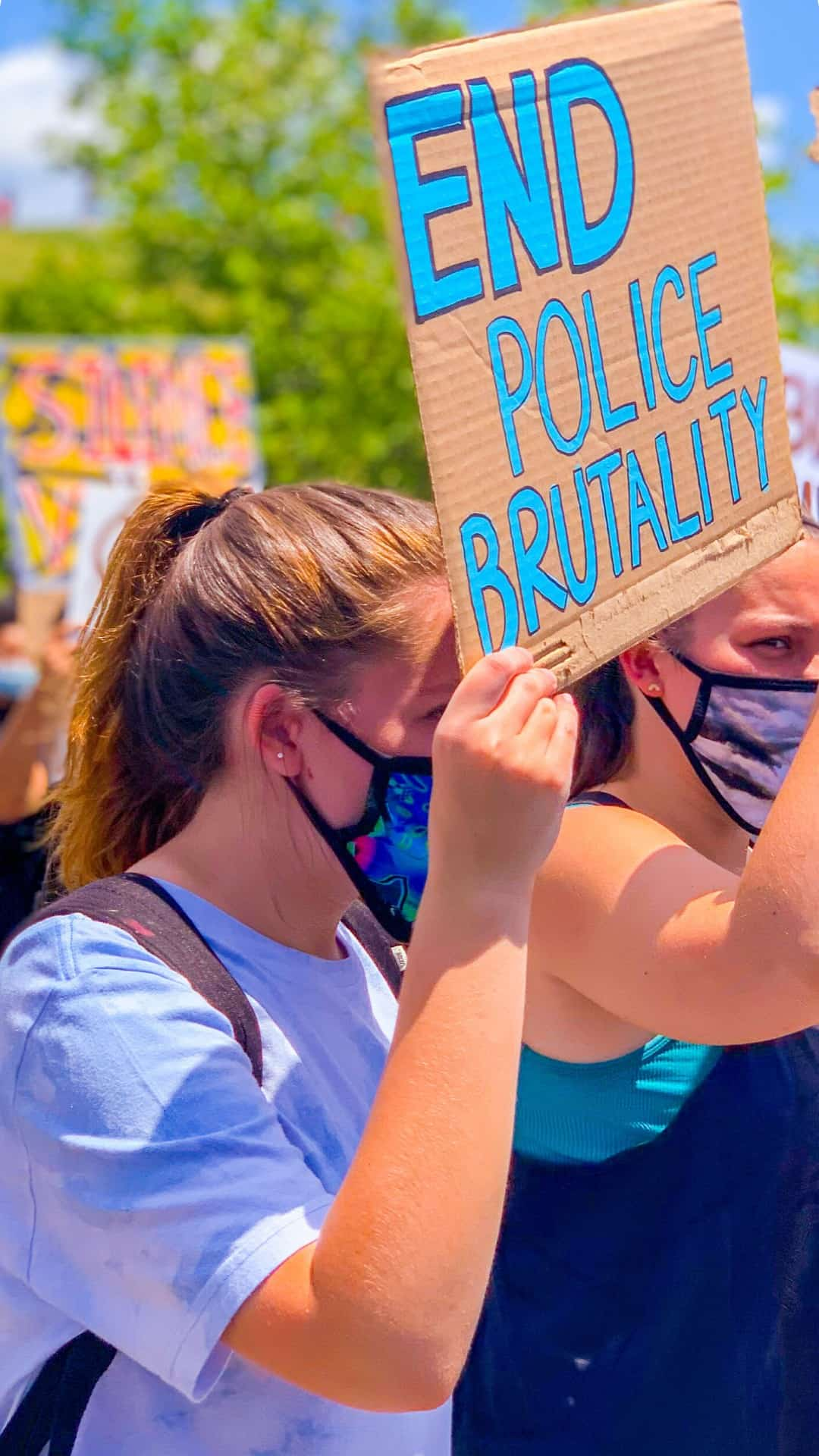 BLM Protest Signs Ideas- end police brutality protest sign
