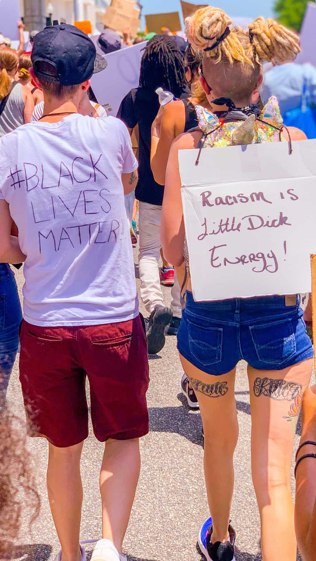 BLM Protest Signs Ideas- Racism Is Little Dick Energy protest sign