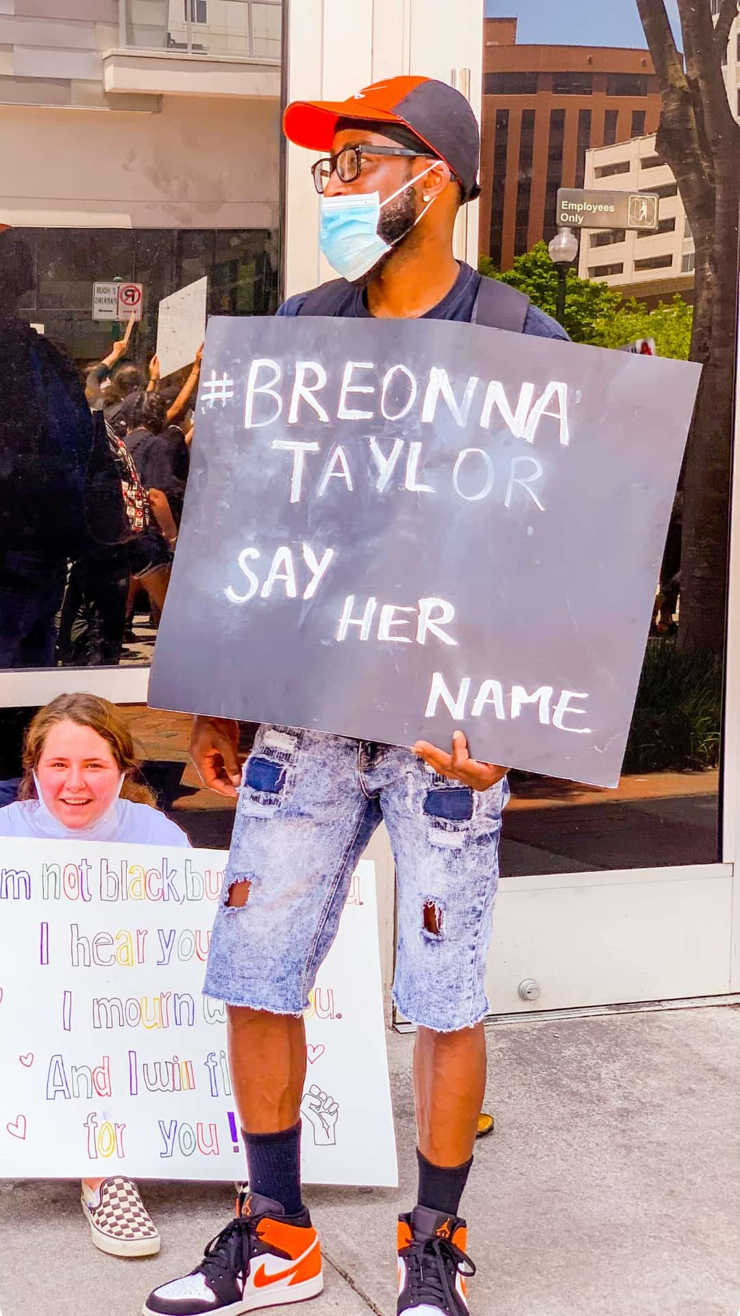 BLM Protest Signs Ideas- Say her name Breonna Taylor protest sign