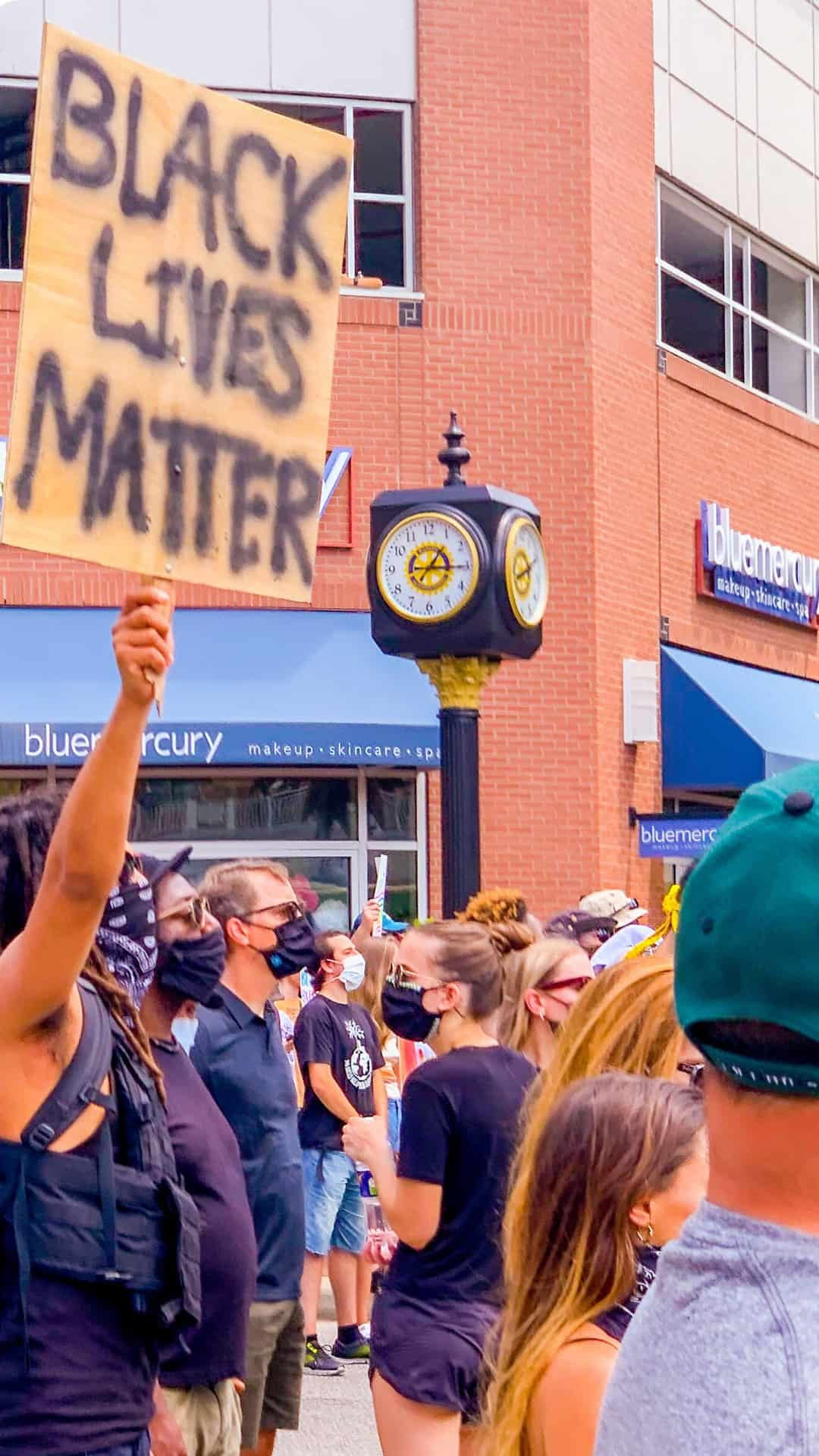 Black Lives Matter BLM protest sign