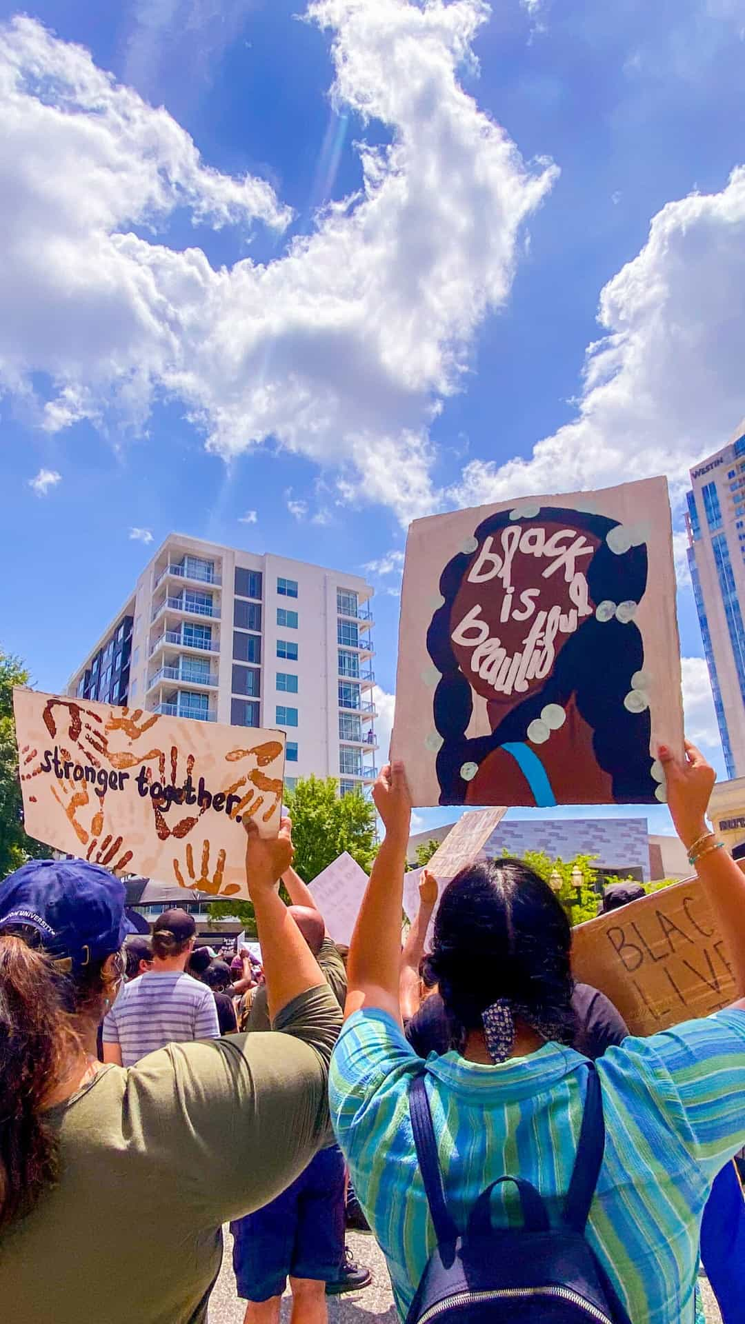 Black is Beautiful protest signs