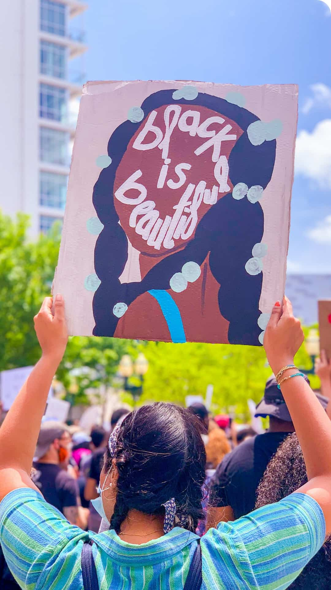 BLM Protest Signs Ideas- Black is beautiful art