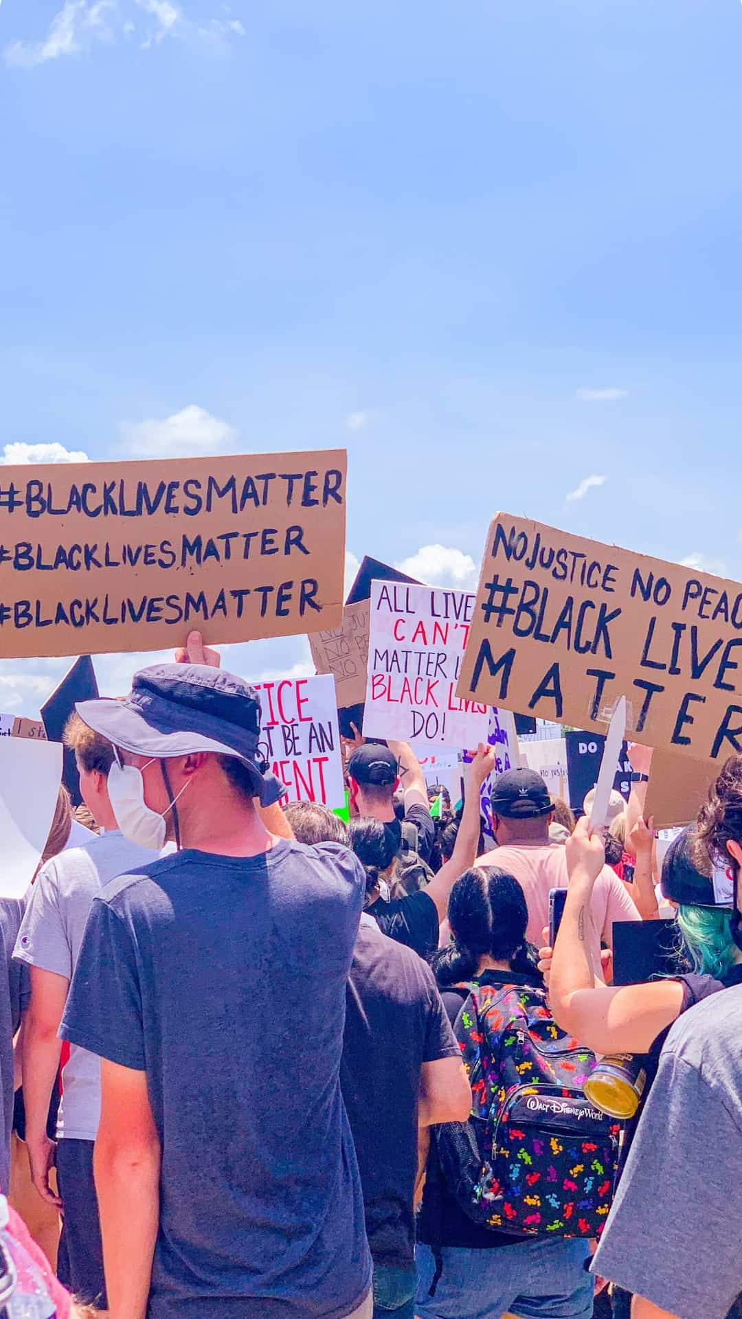 no justice no peace - Black lives matter protest sign