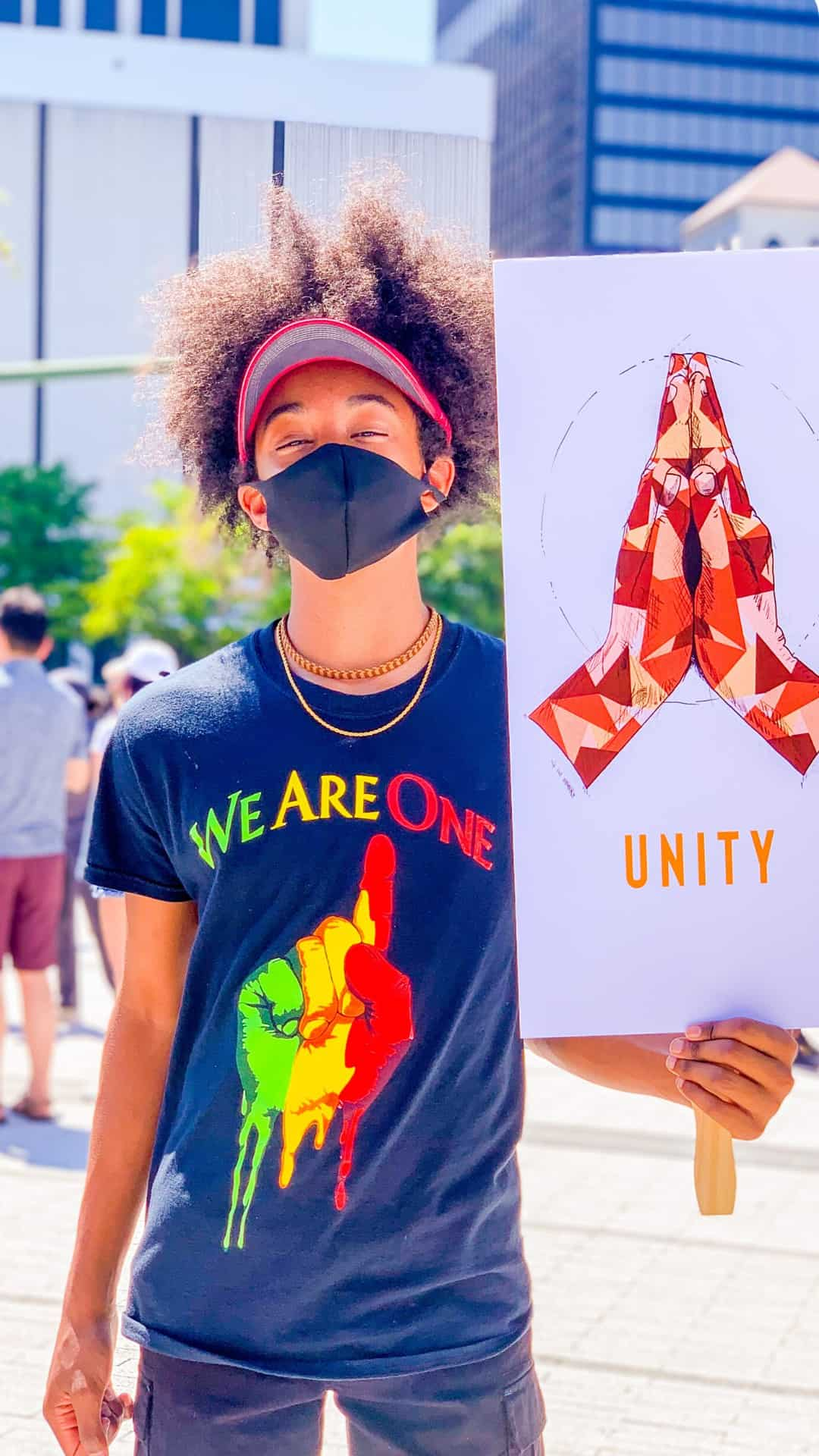 BLM Protest Signs Ideas- We Are One Unity protest sign
