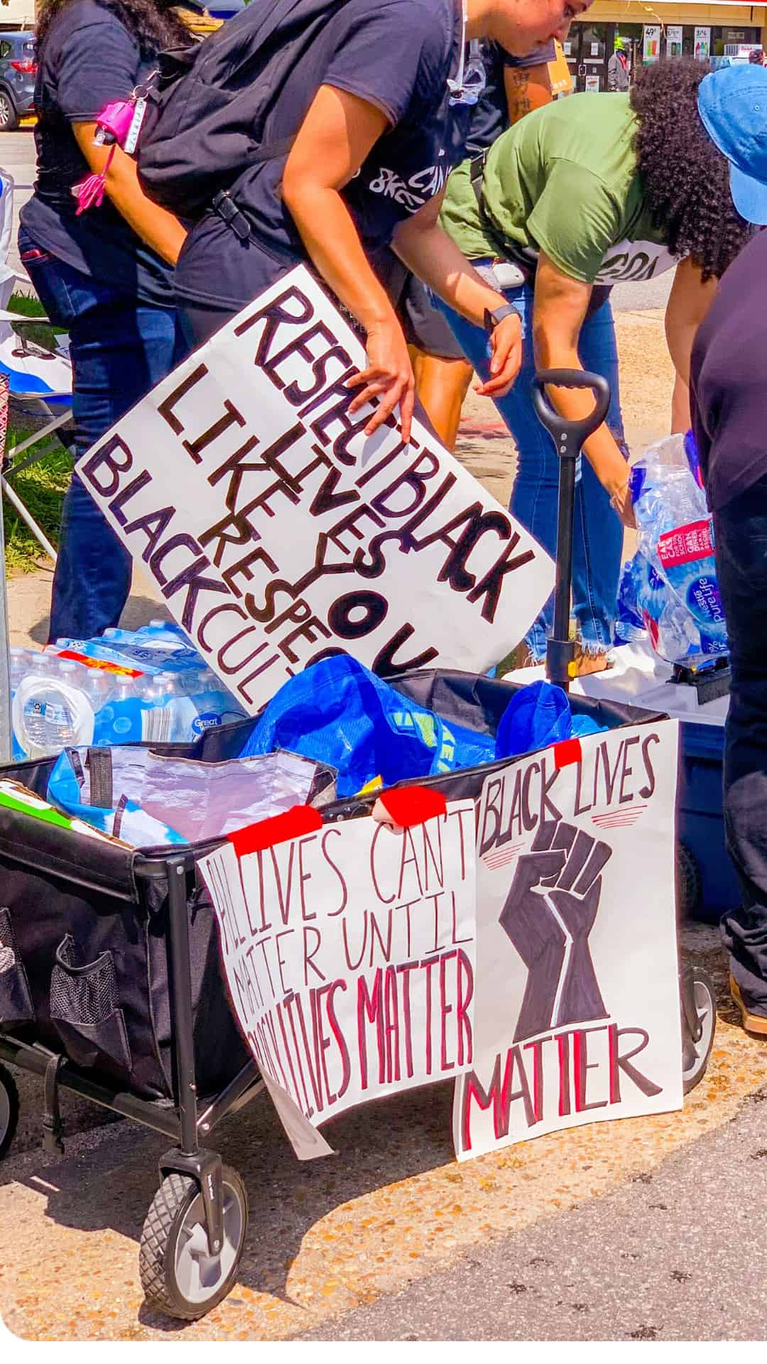 respect Black lives like you respect Black culture protest sign