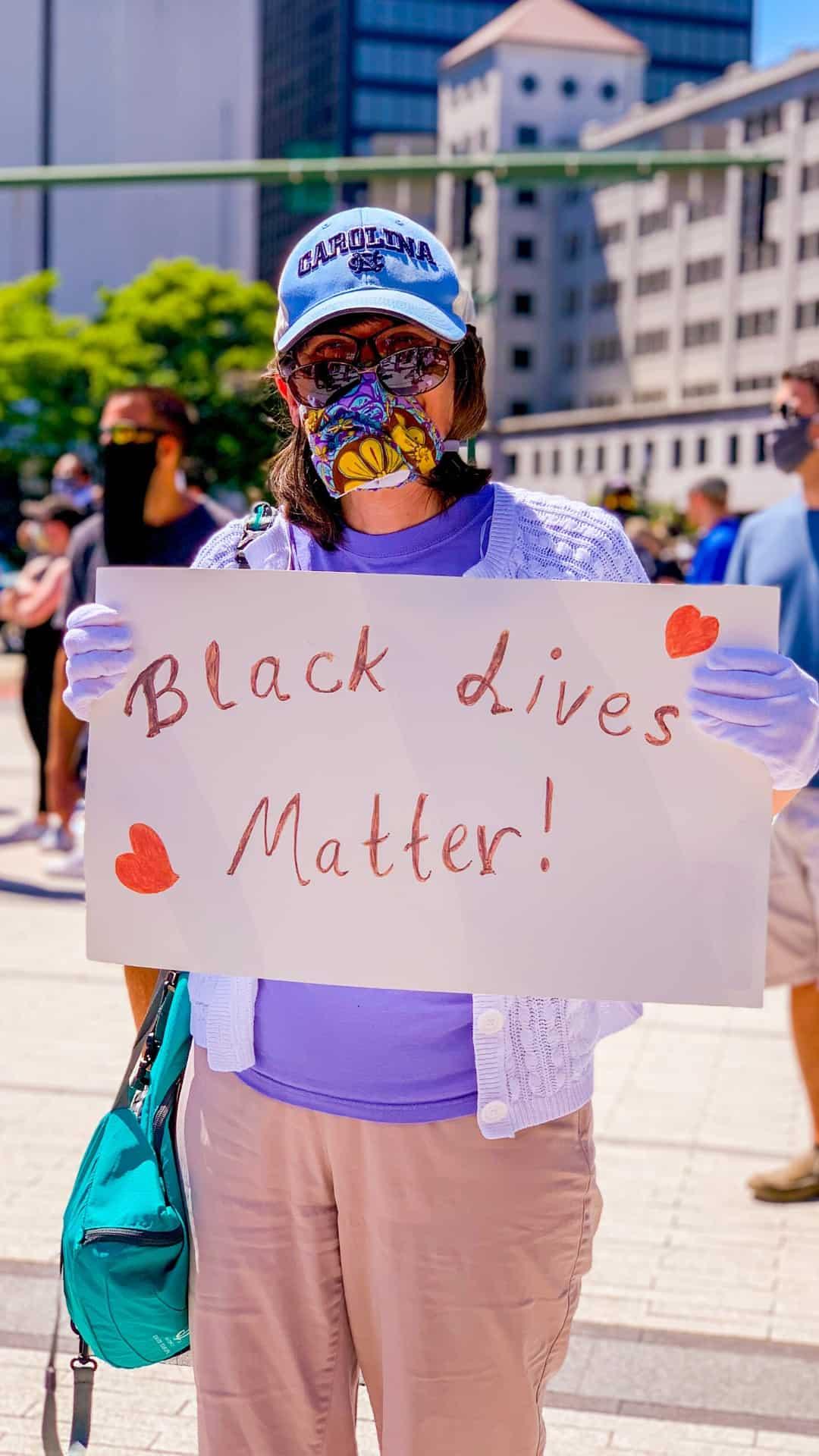 Protest sign Black Lives Matter