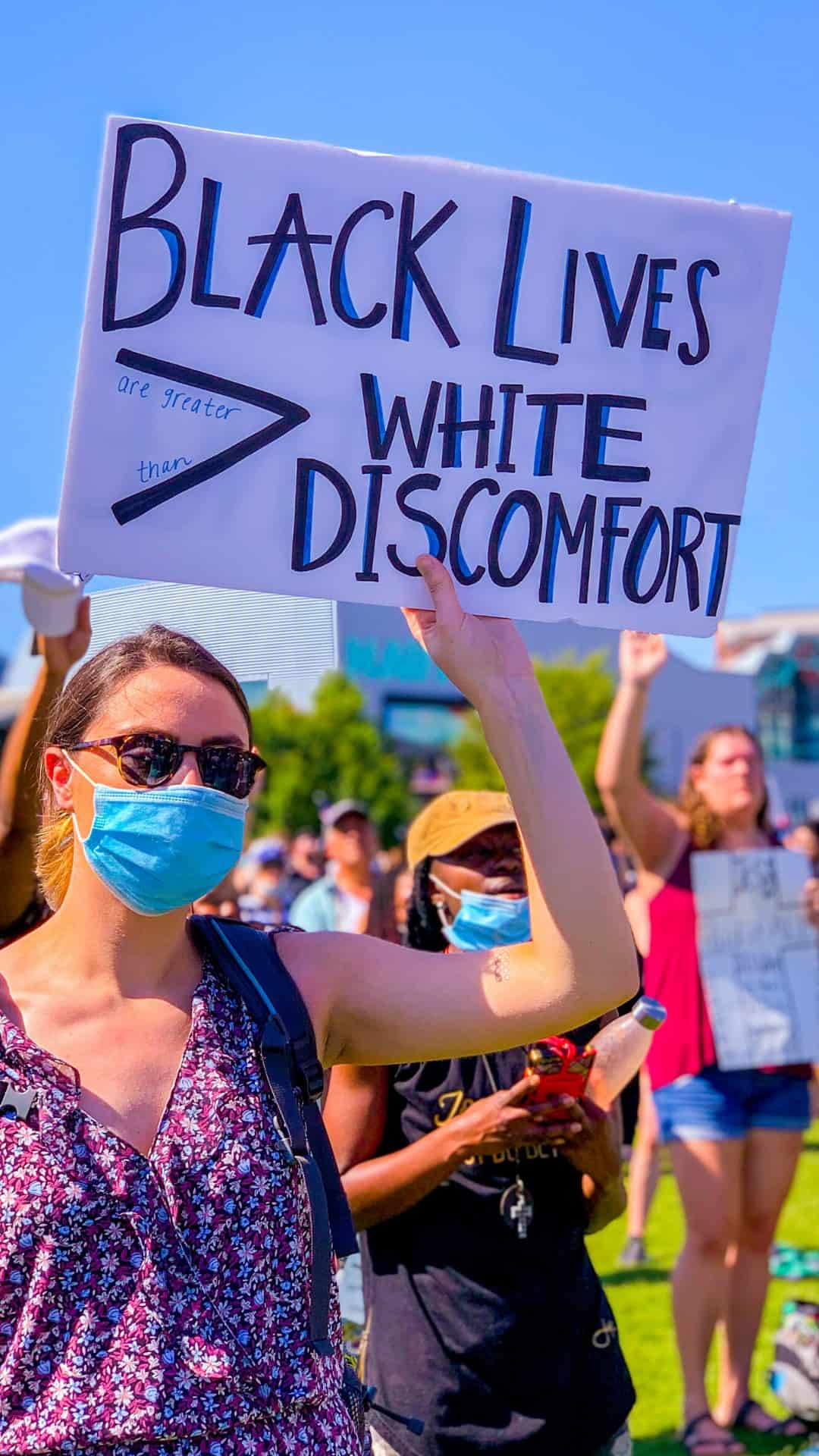 Black lives are greater than what discomfort protest sign