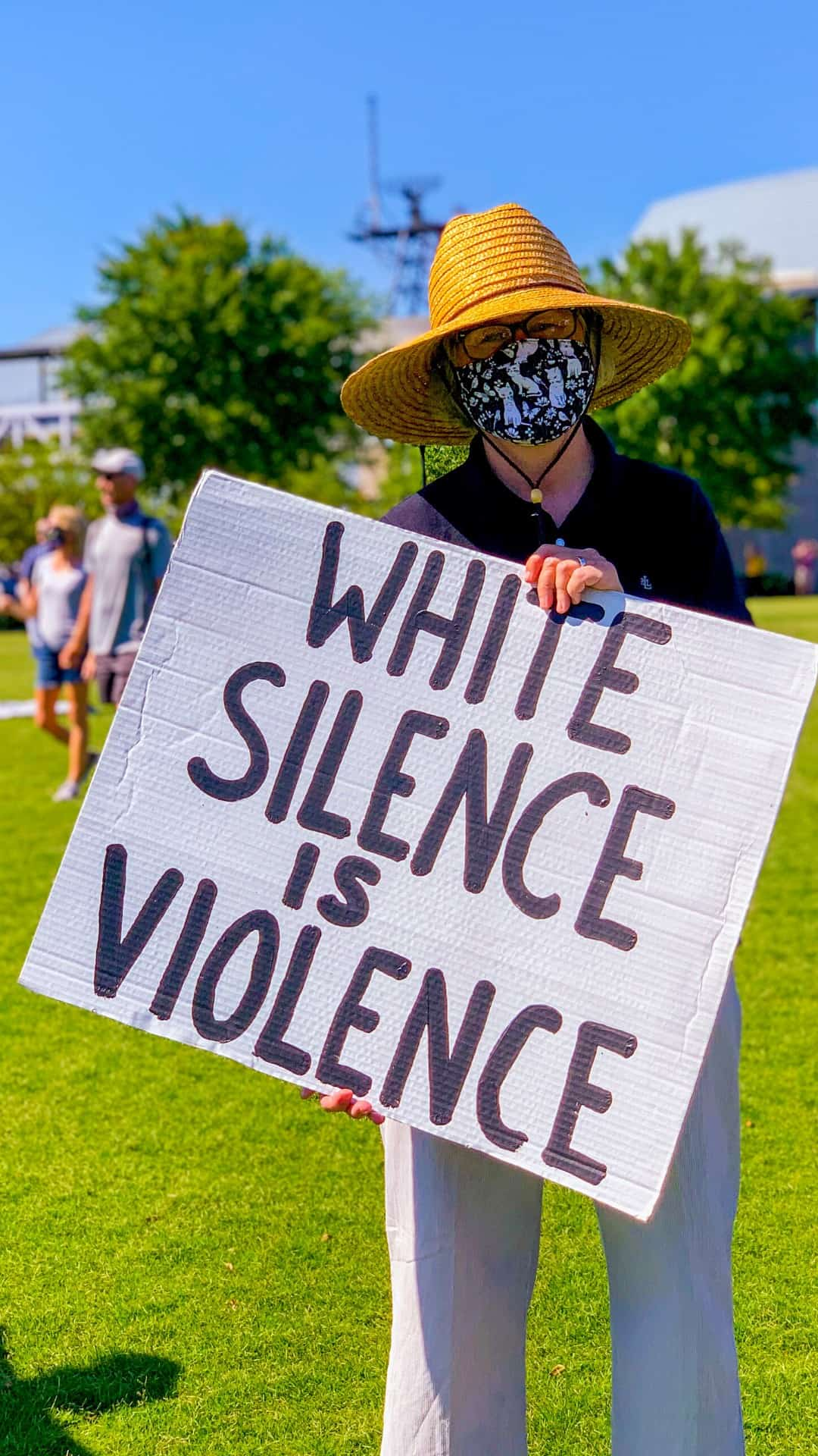 BLM Protest Signs Ideas- White silence is violence protest sign