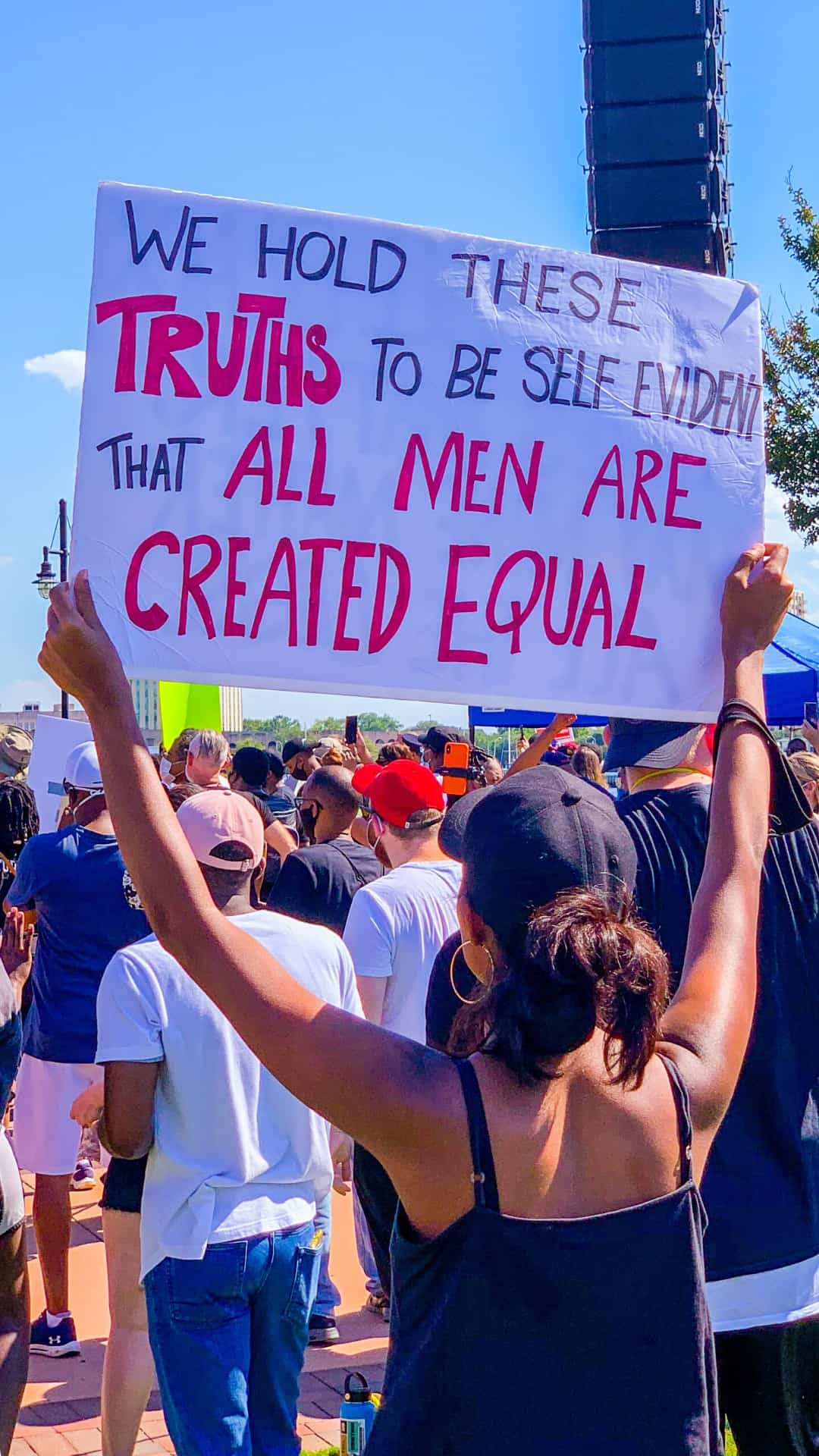 self evident rights protest sign