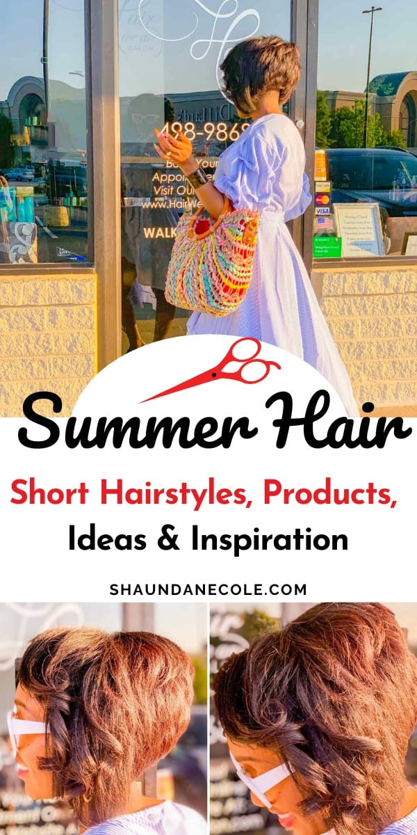 Summer short hairstyle for women