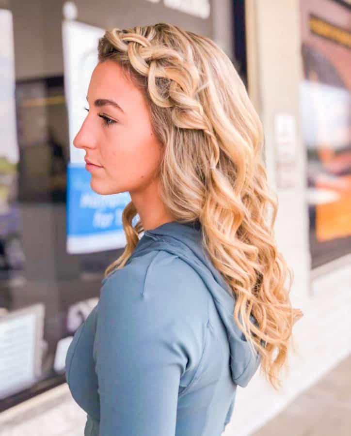 balayage and braided hairstyles