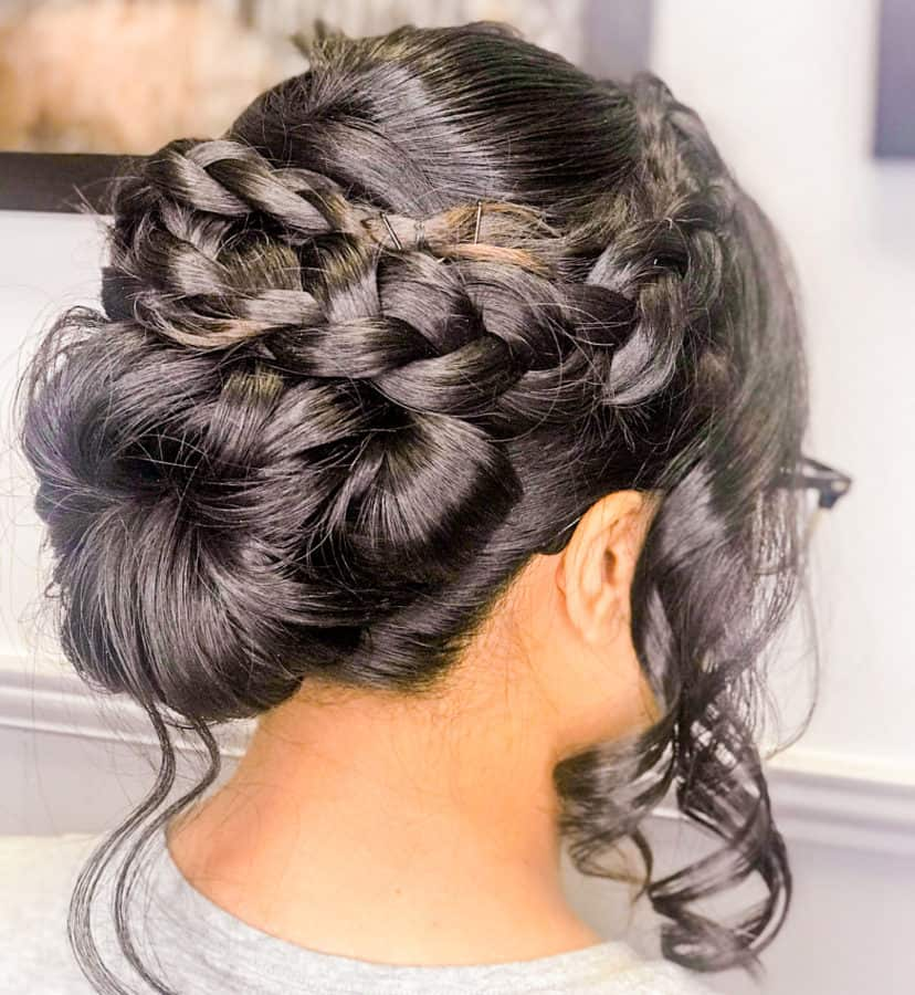 braided hairstyles and buns