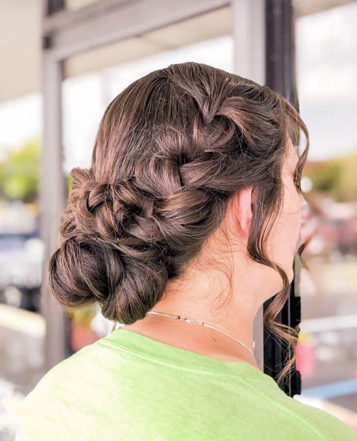 bridesmaid braided hairstyles