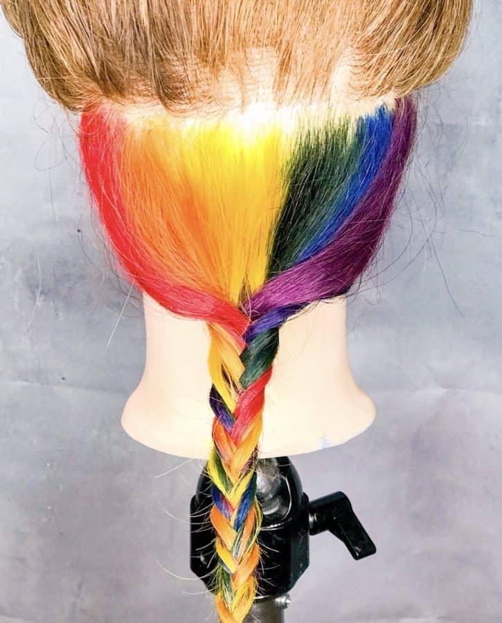 rainbow braided hairstyles