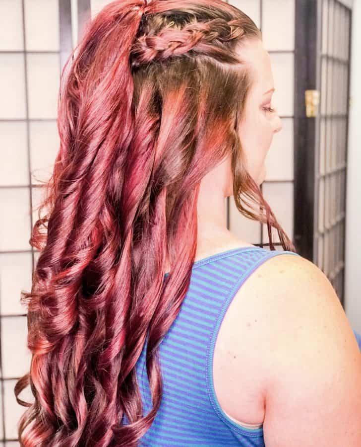vivid hair colors & braids