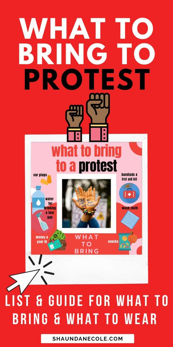 What To Bring To Protest - Protesting Safely