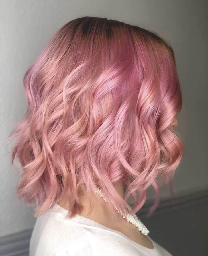 Baby Pink Hair Color & Bob Haircut by Destiny Moody - MUAH Destiny