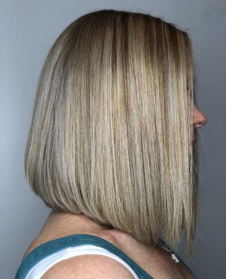 Long Blonde Bob Haircut With Highlights by Destiny Moody - MUAH Destiny