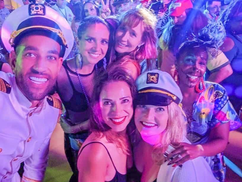 Carnival Cruise Ship Crew Lido Deck Party