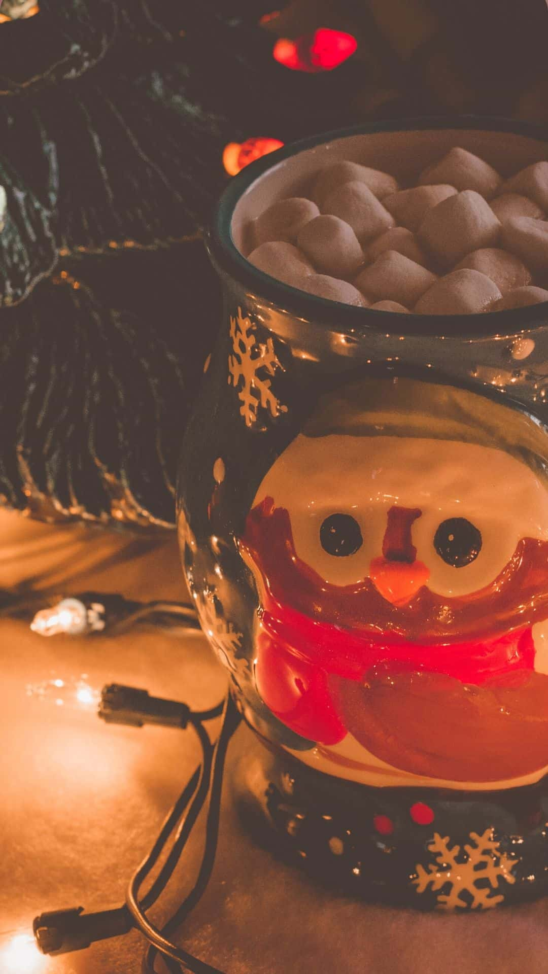 Cozy Christmas Backgrounds For iPhone Wallpaper Christmas Hot Chocolate