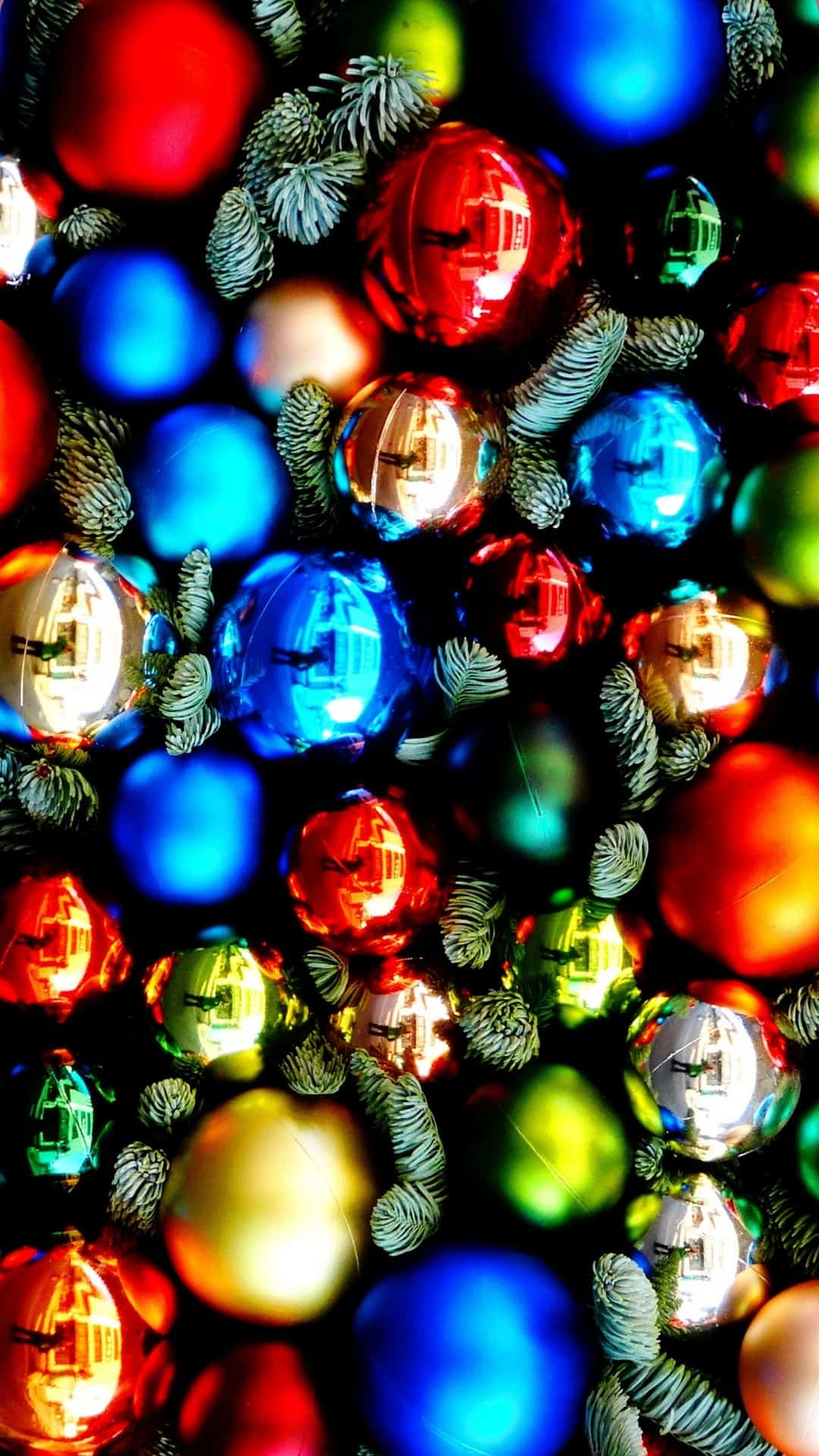 Cozy Christmas Backgrounds For iPhone Wallpaper Shiny Christmas Ornaments