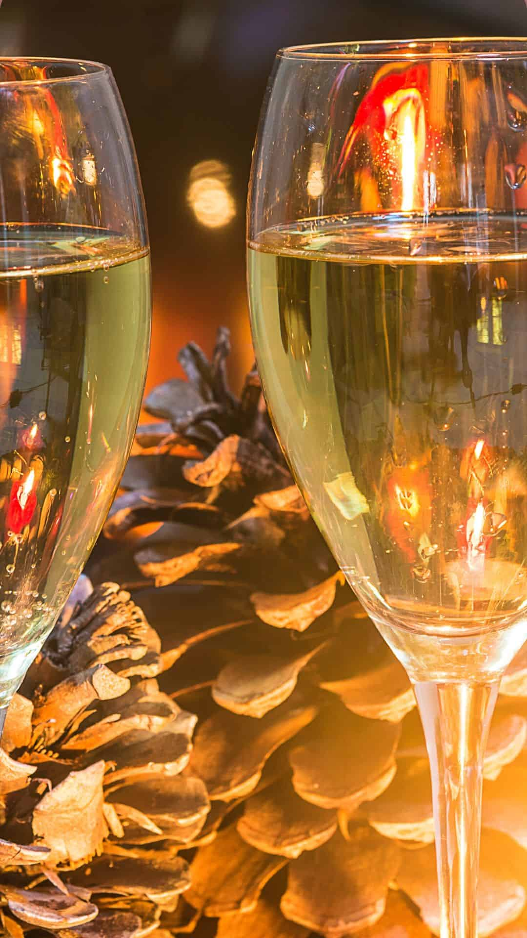 Cozy Christmas Backgrounds For iPhone Wallpaper Christmas Champagne By The Fire