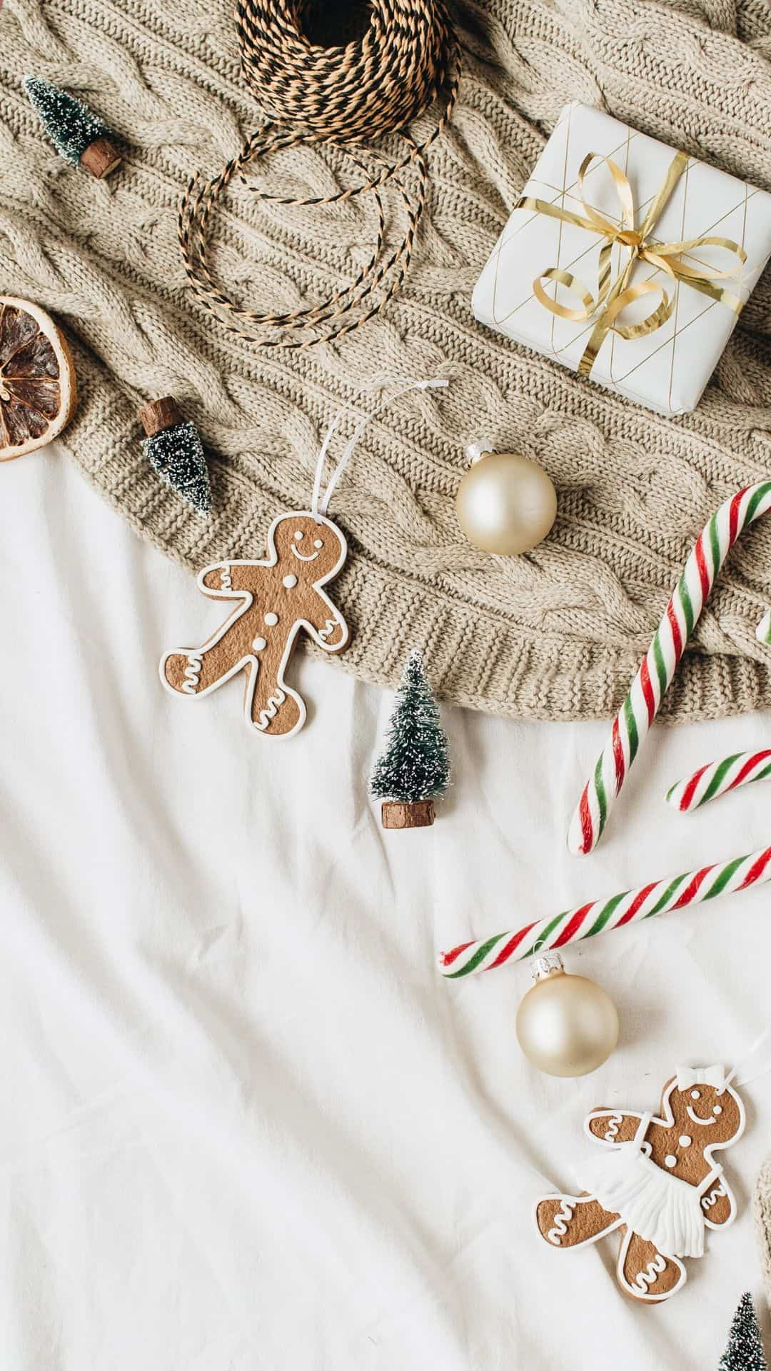 Christmas Wallpapers For iPhone Modern Farmhouse Gingerbread