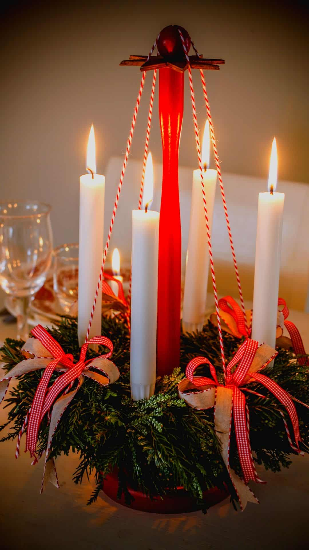 Christmas Wallpapers For iPhone Holiday Candles