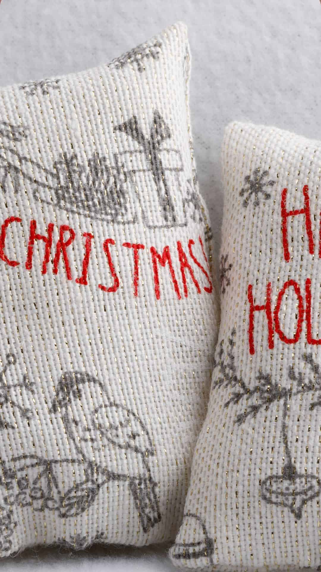 Christmas Wallpapers For iPhone Cozy Christmas Pillows