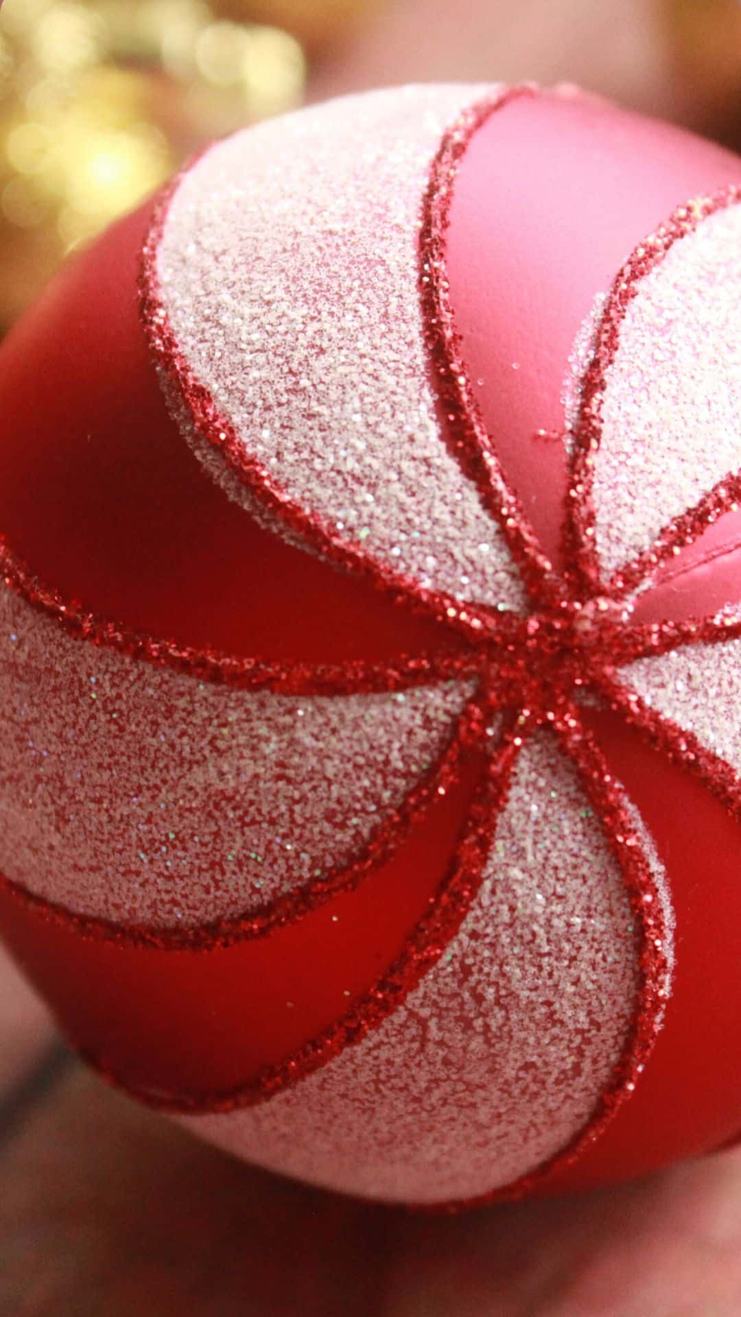 Cozy Christmas Backgrounds For iPhone Wallpaper Can Cane Large Ornament