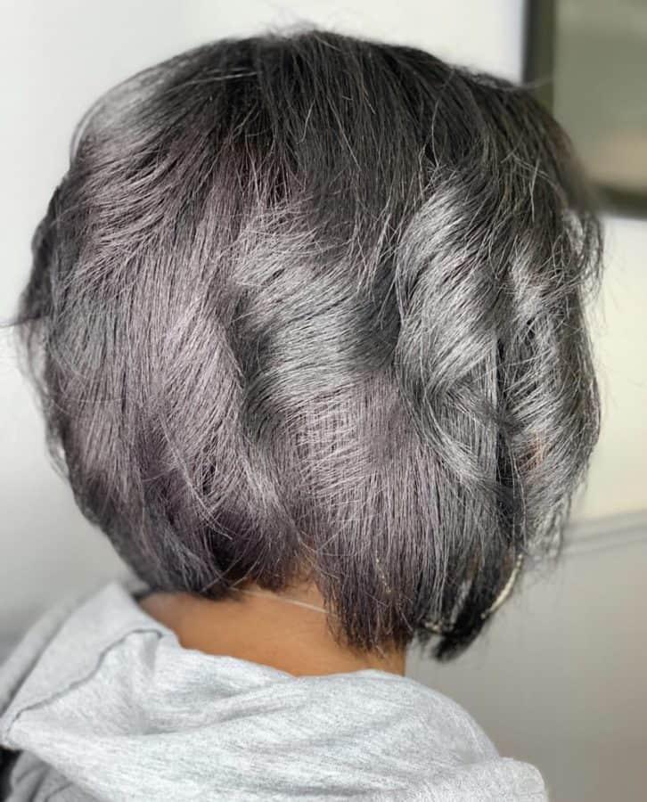 Dark Balayage Bob Haircut by Destiny Moody - MUAH Destiny