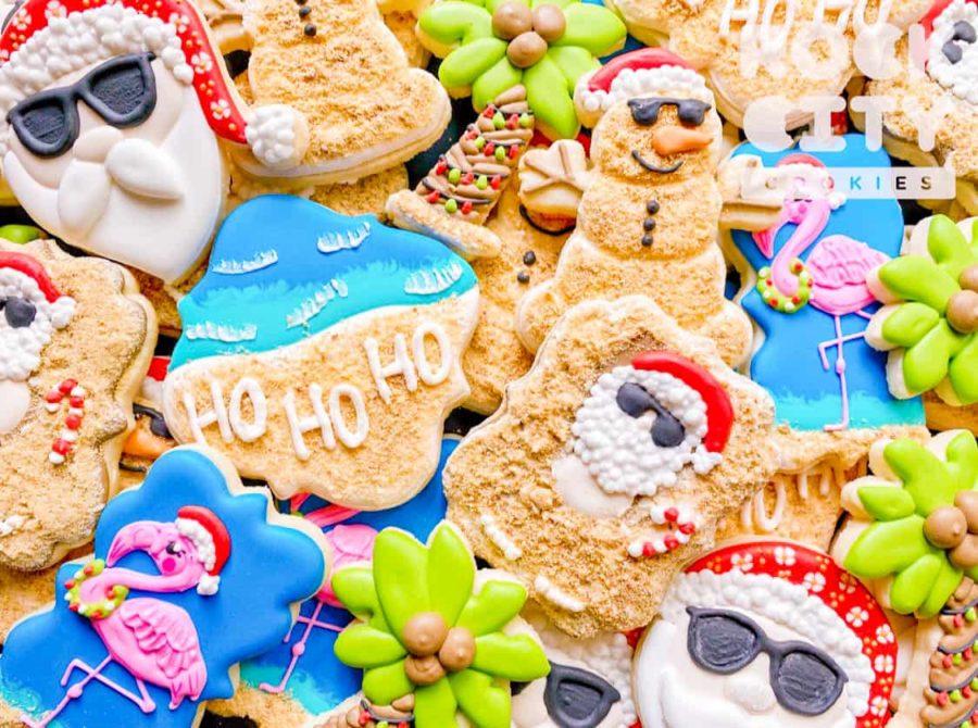 Fun Christmas In July Custom Cookies - Rock City Cookies
