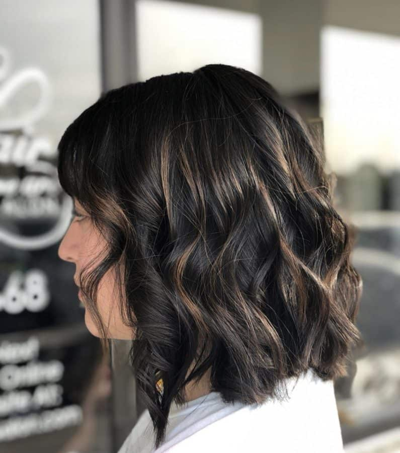 Medium Length Brunette Bob Haircuts by Destiny Moody - MUAH Destiny