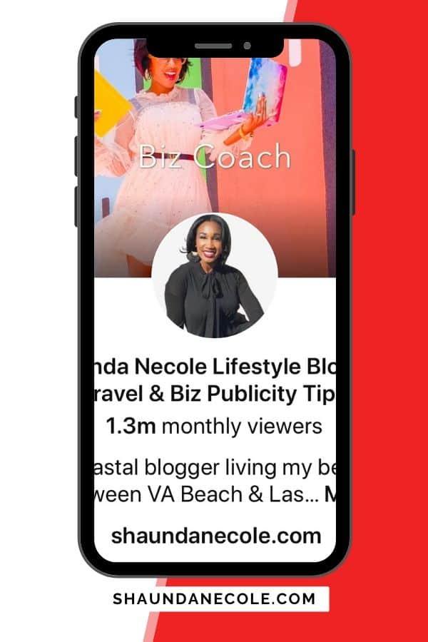 Shaunda Necole Pinterest Growth & Engagement