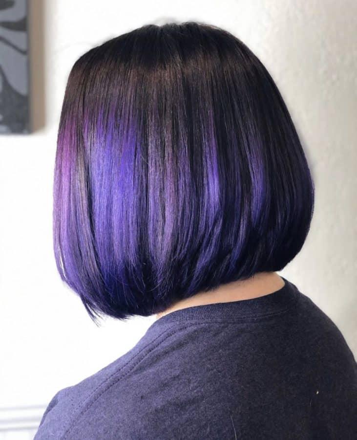 Purple Bob Hairstyles by Destiny Moody - MUAH Destiny