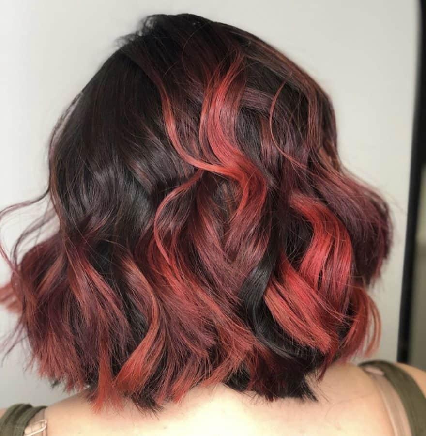Red Balayage Color by Destiny Moody - MUAH Destiny
