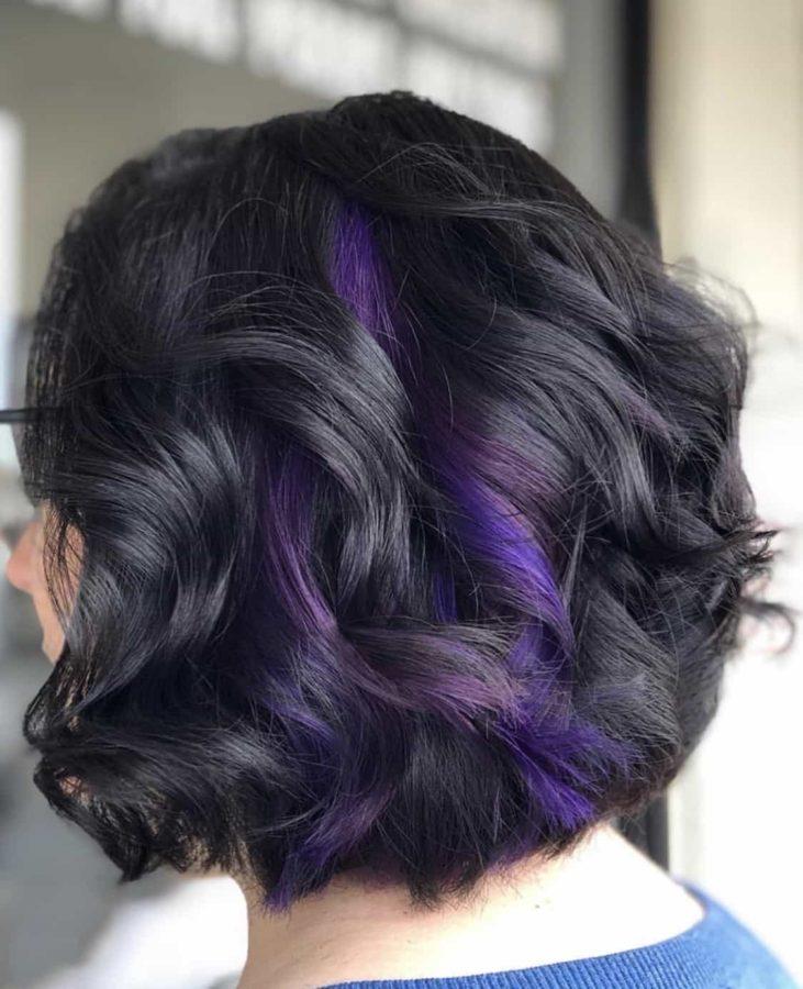 Purple Peekaboo Color Bob by Destiny Moody - MUAH Destiny