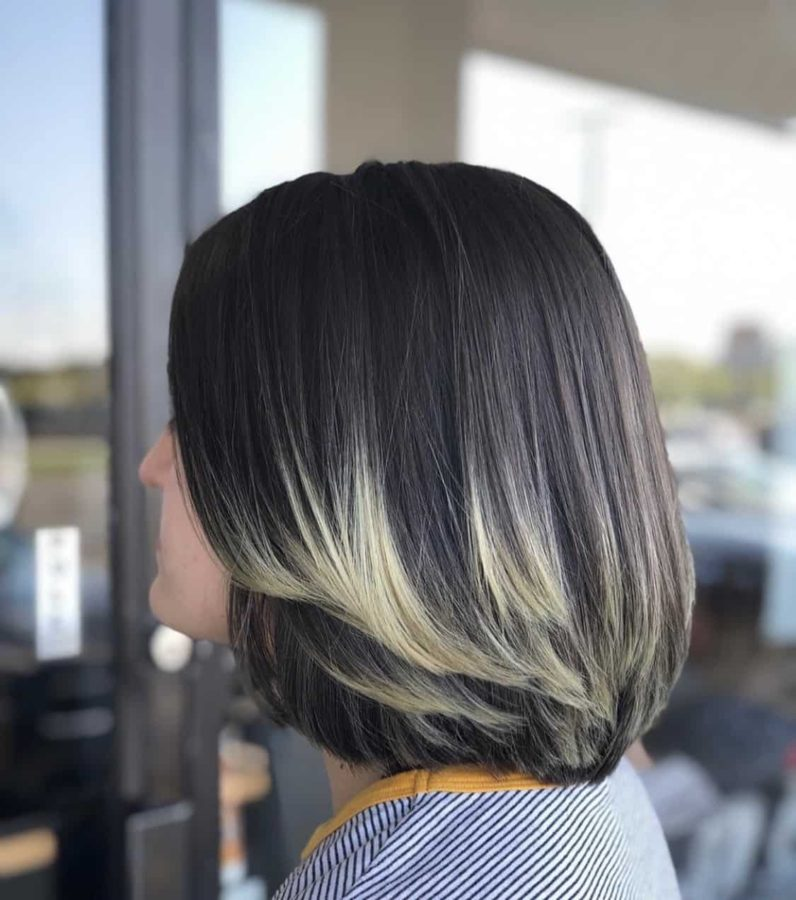 Bob Haircut With Frosted Blonde Tips by Destiny Moody - MUAH Destiny