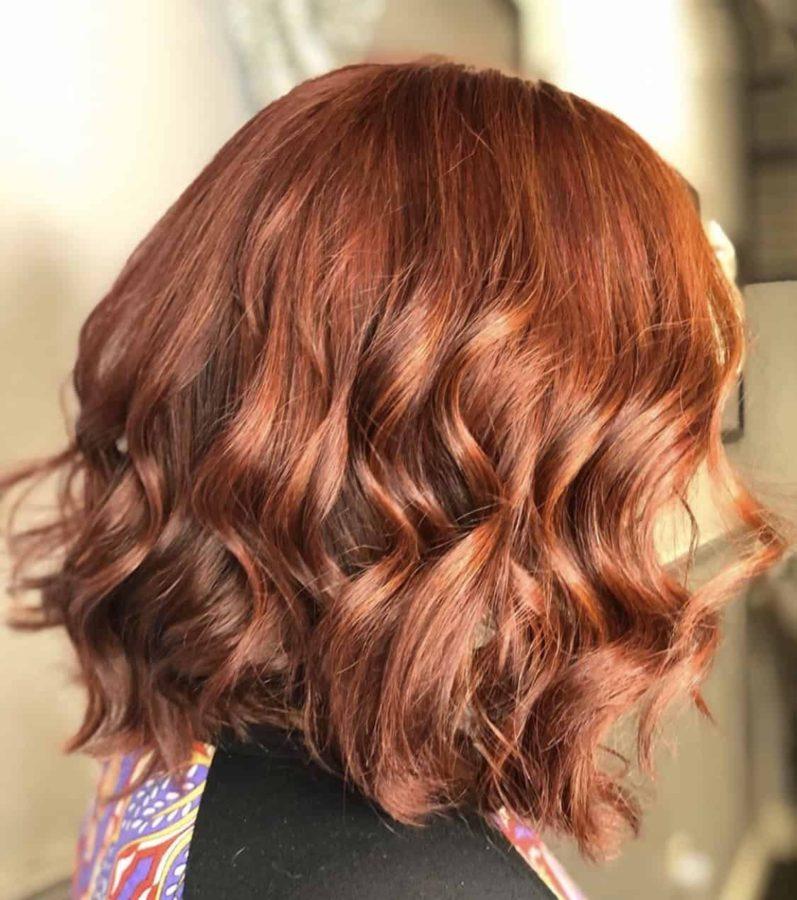 Auburn Color Bob Haircut by Destiny Moody - MUAH Destiny