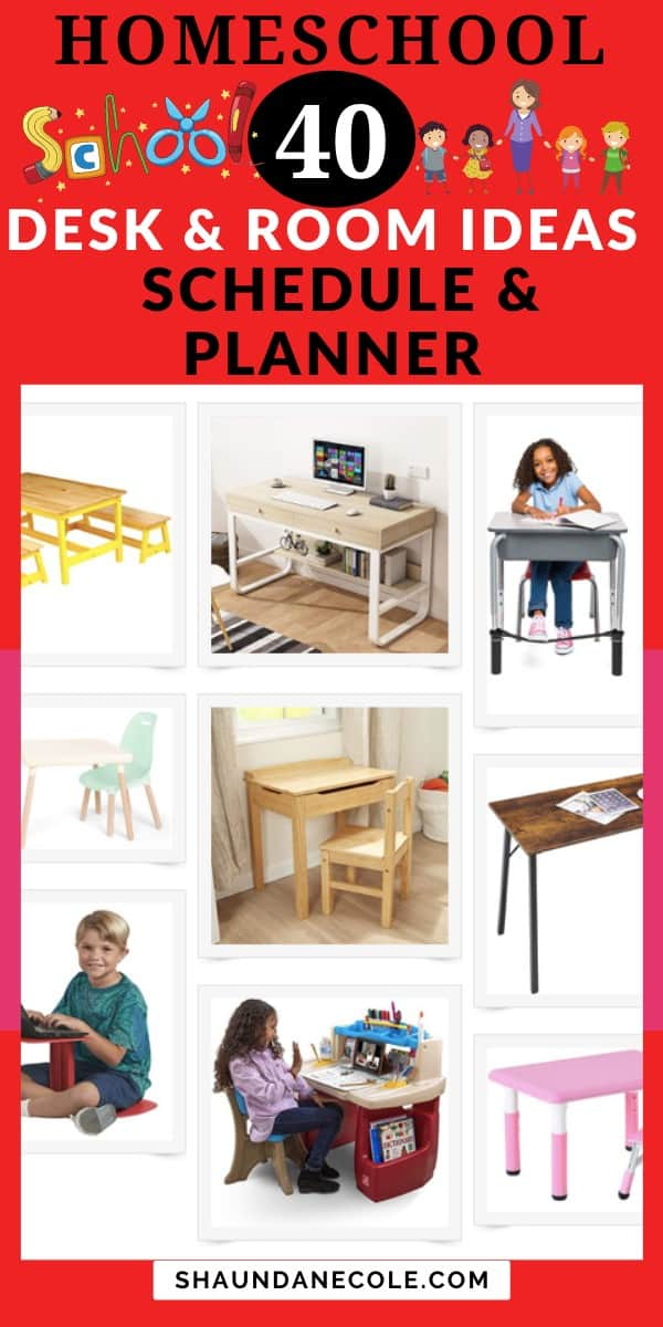 Homeschool Desk, Room Ideas & Schedule