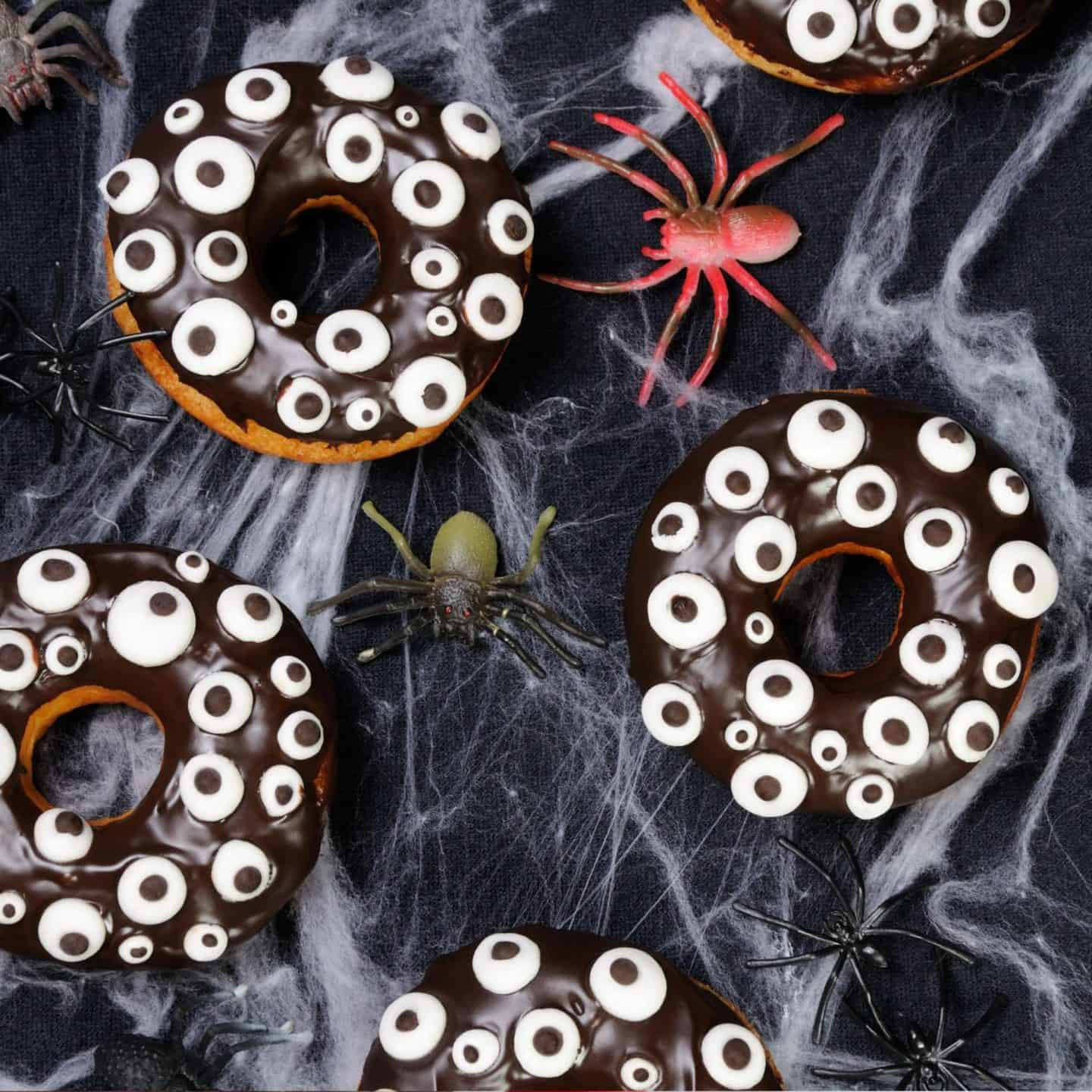 Halloween Party Decorated Doughnuts