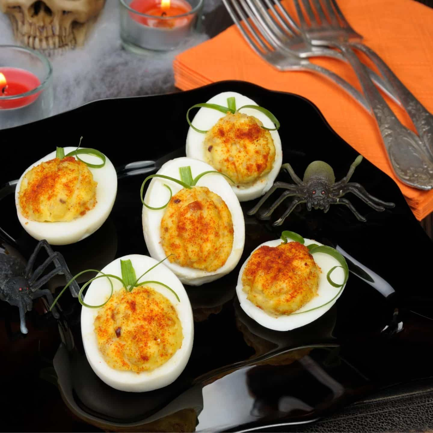 Halloween Party Deviled Eggs
