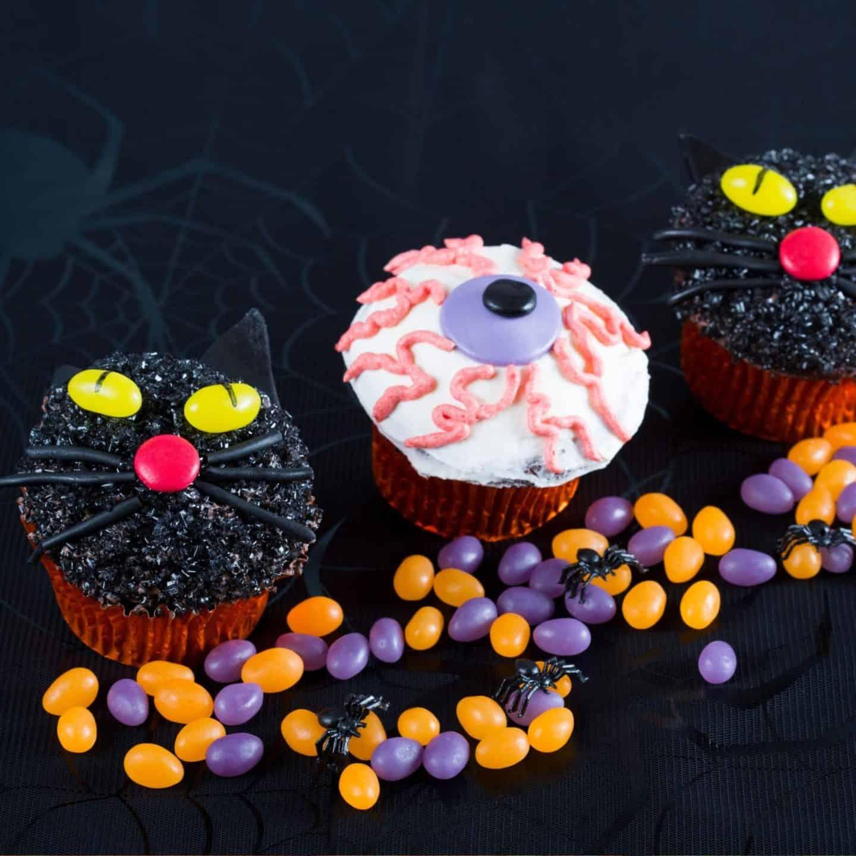 Halloween brain cupcakes