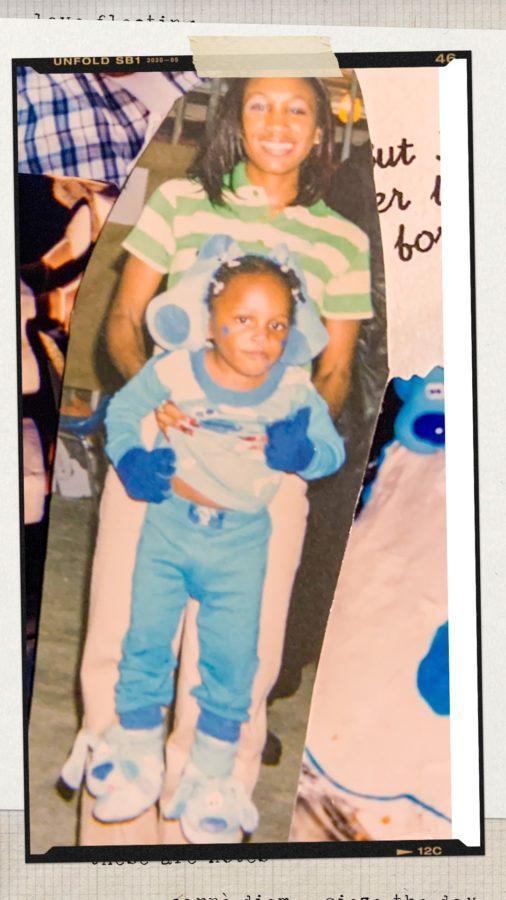 90s Halloween Shaunda Necole Halloween circa 1998 as Blue's Clues